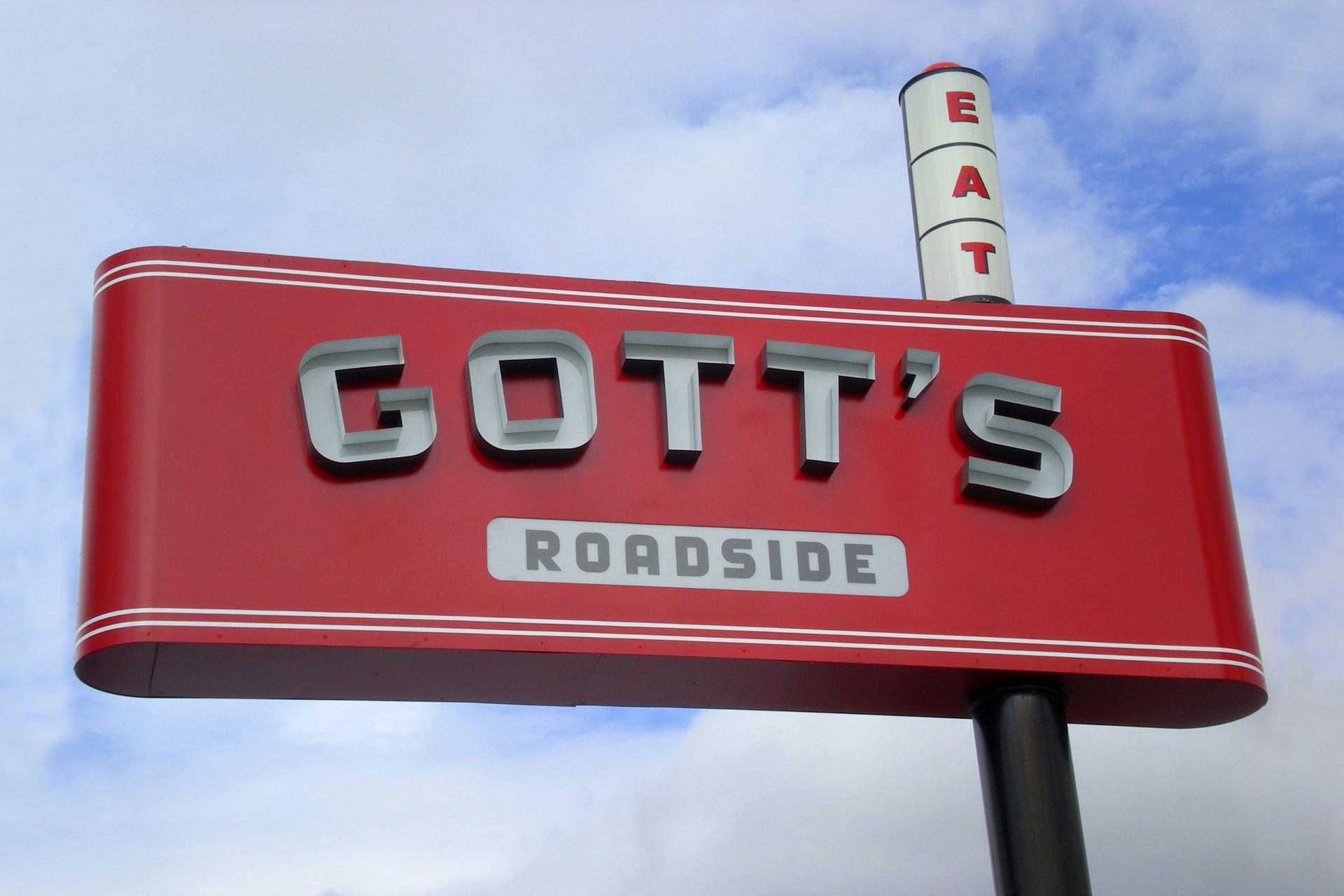 Gott's Roadside store sign