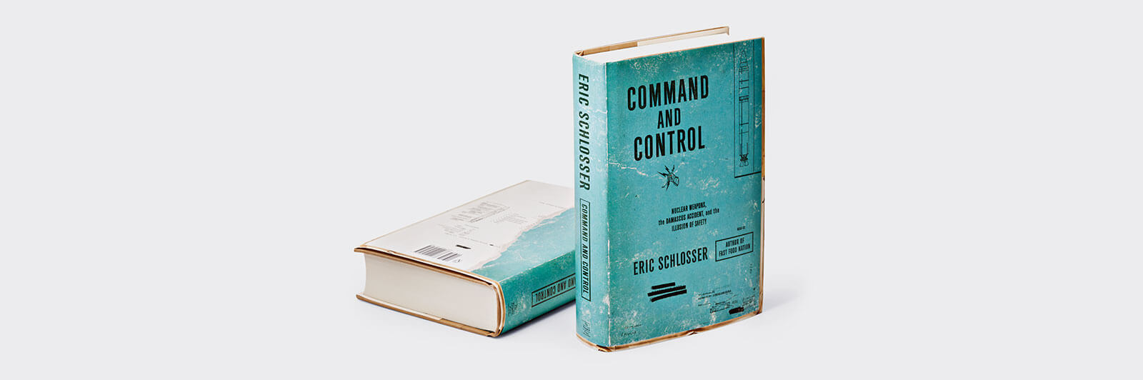 Distressed blue-green Command and Control book cover front and back