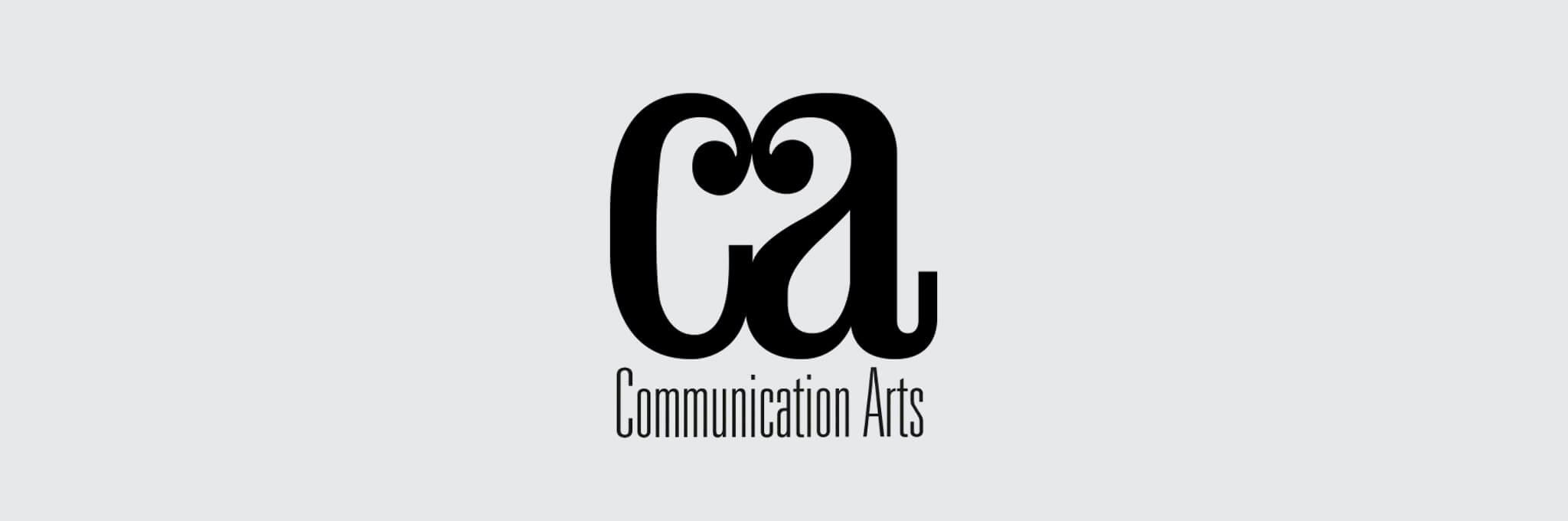 Black CA Communication Arts logo on light gray background
