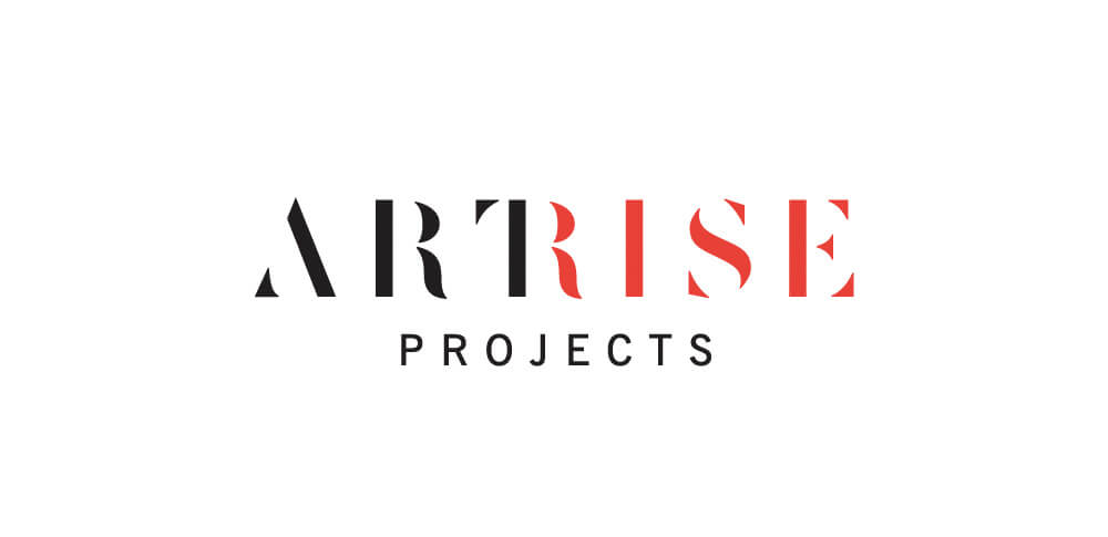 Artrise Projects logotype in black and red