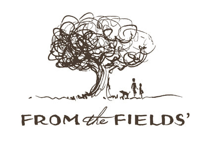 From the Fields' logo with pen-illustrated tree, adult, child, and dog