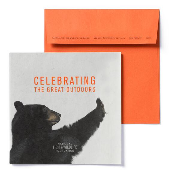 Orange Envelope with card reading