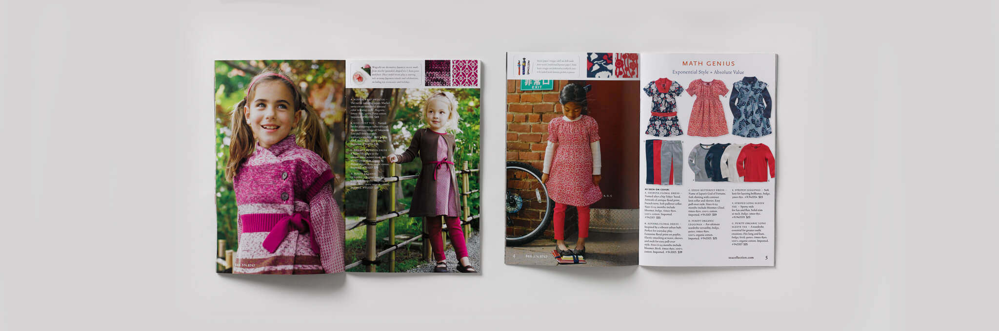 2 open catalogs featuring children and children's clothing