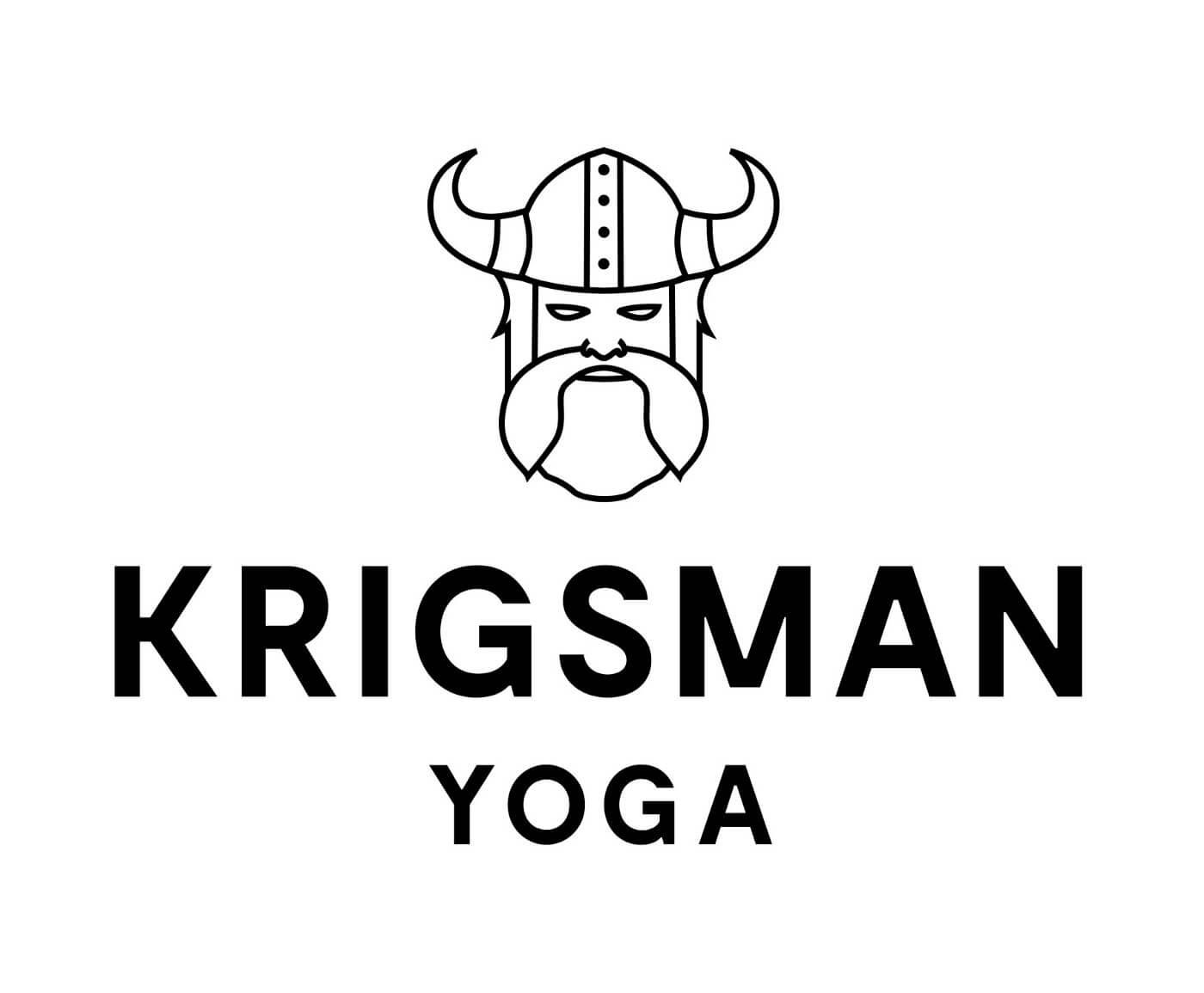 Viking logo mark with Krigsman Yoga logotype.