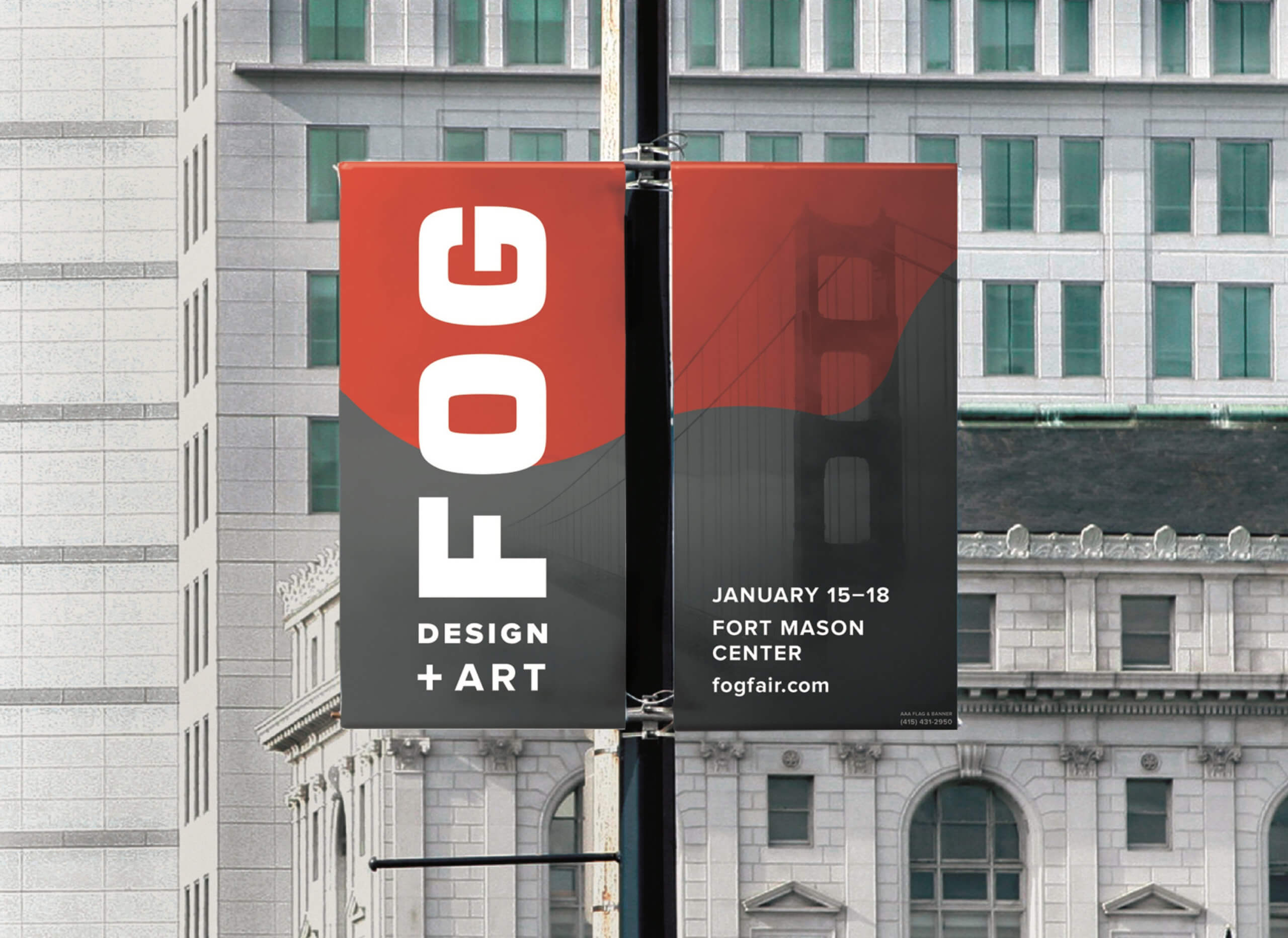 Fog Art Design Fair street banner
